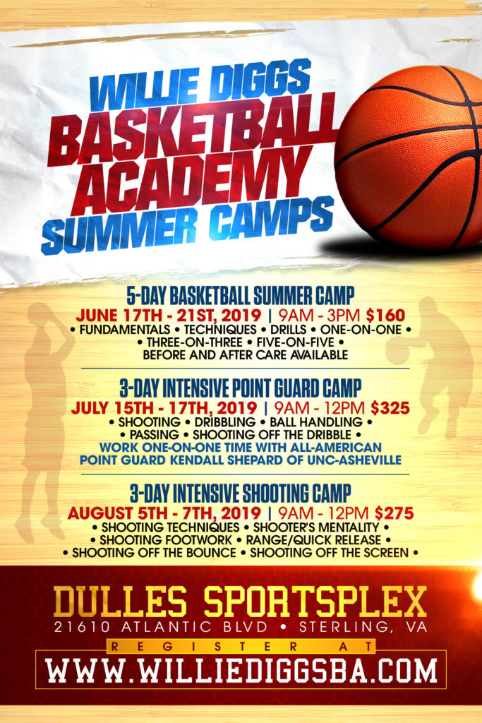 Willie Diggs Basketball Academy DMV Summer Camp