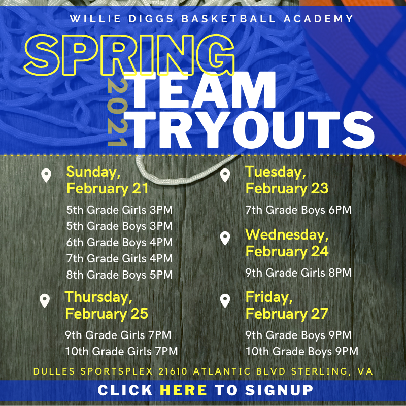 Northern Virginia AAU Travel Team Basketball tryouts